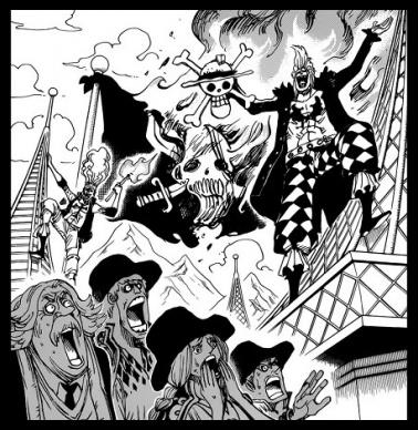 バルトロメオとシャンクスの海賊旗