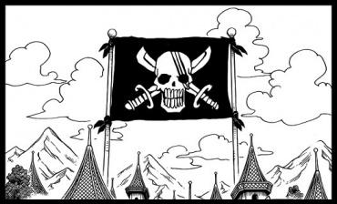 ワンピースのシャンクスの海賊旗