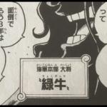 """ワンピース""""緑牛""""のモデル"""