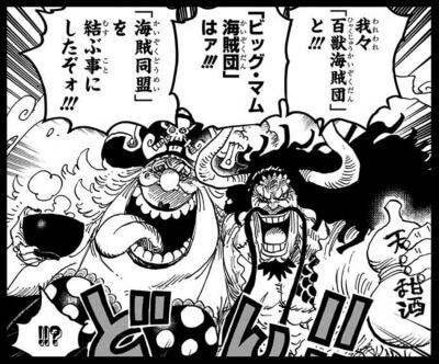 ワンピースのカイドウとビッグ・マムの海賊同盟