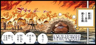 """ワンピースの巨大戦艦""""サンファン・ウルフ""""の能力"""